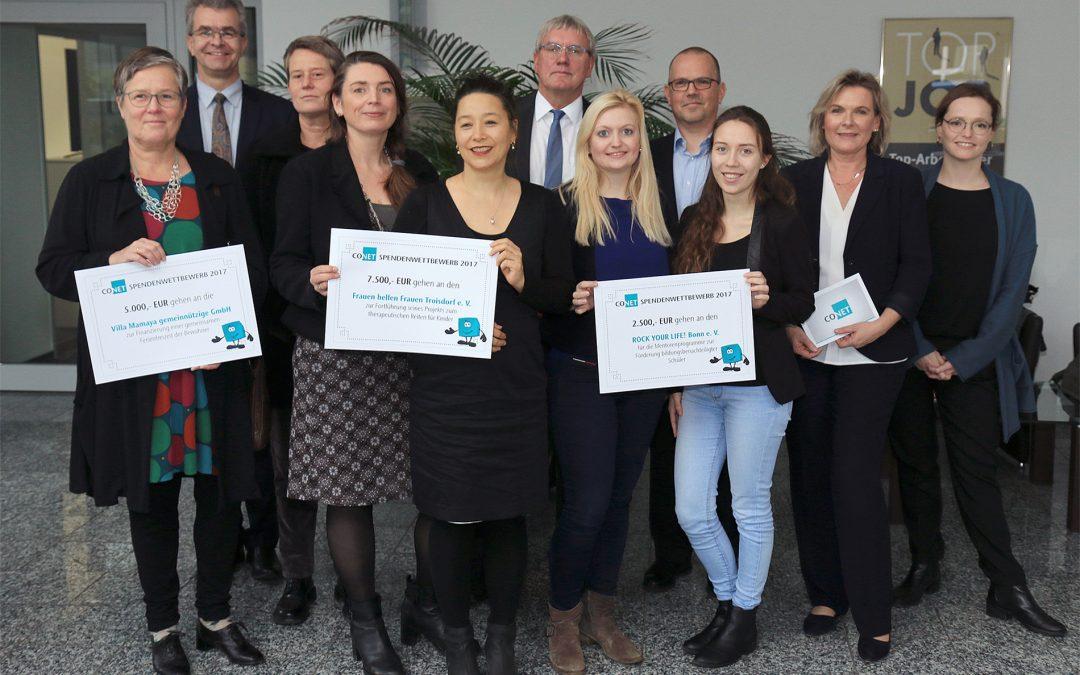 RYL! Bonn gewinnt 2.500 € bei CONET-Jahresspende 2017